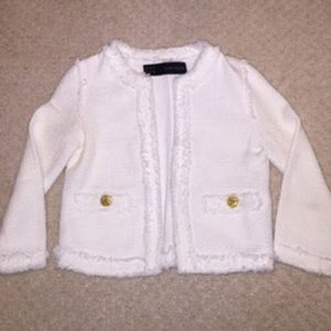 Size small White Zara blazer with gold buttons